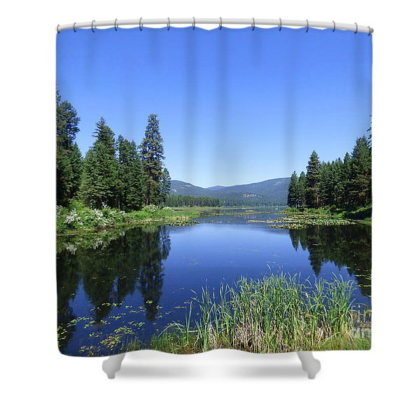 Shower Curtain featuring the photograph Twin Lakes Reflection by Charles Robinson