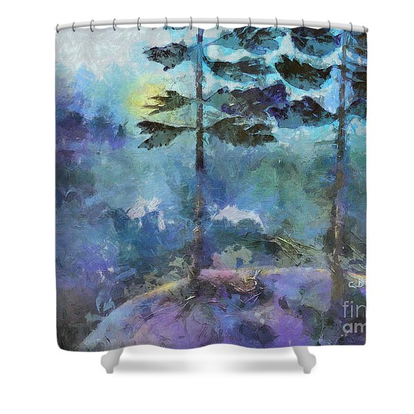 Twin Pines Shower Curtain