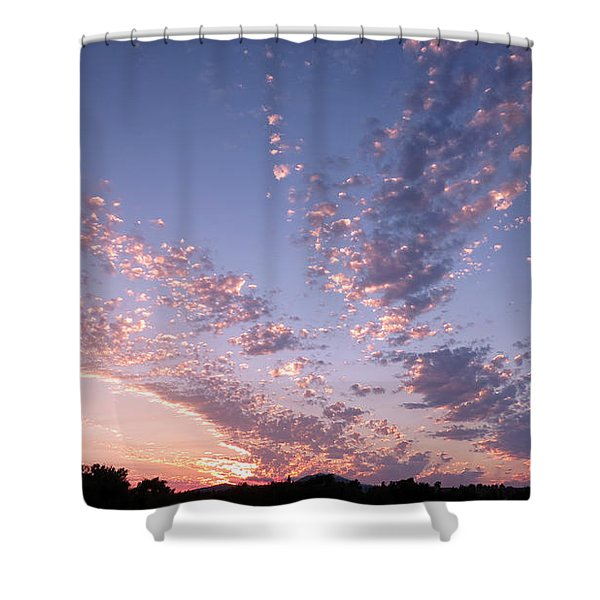 Twin Sisters Sunset Shower Curtain