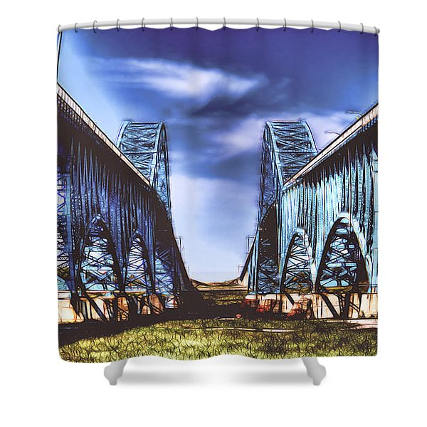 Twin Spanned Arched Shower Curtain