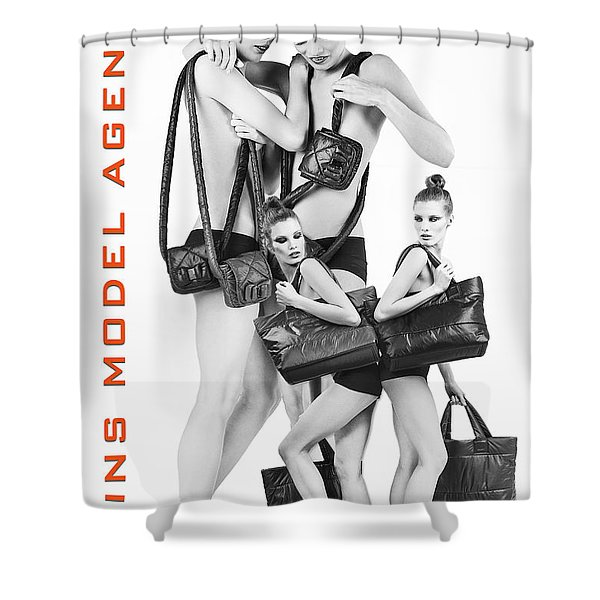 Twins Model Agency Shower Curtain