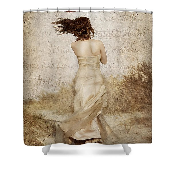 Twirling Painted Lady Shower Curtain