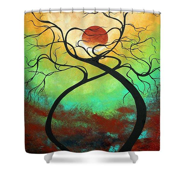 Twisting Love II Original Painting By Madart Shower Curtain