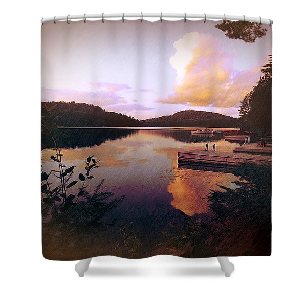 Twitchell At Sunset Shower Curtain