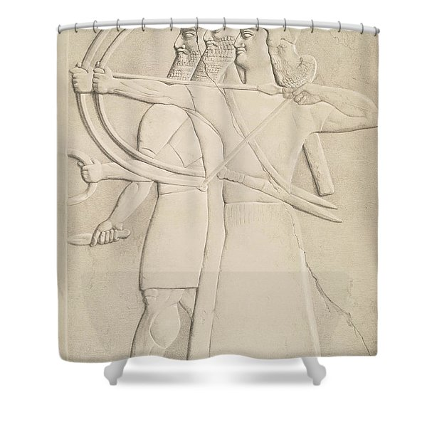 Two Archers And A Shield Bearer, Shower Curtain