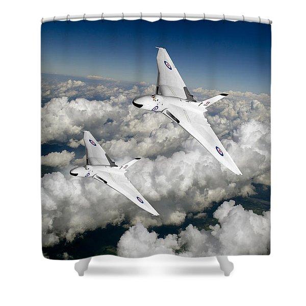 Two Avro Vulcan B1 Nuclear Bombers Shower Curtain