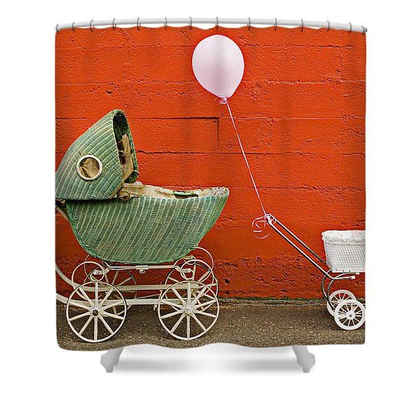 Two Baby Buggies  Shower Curtain