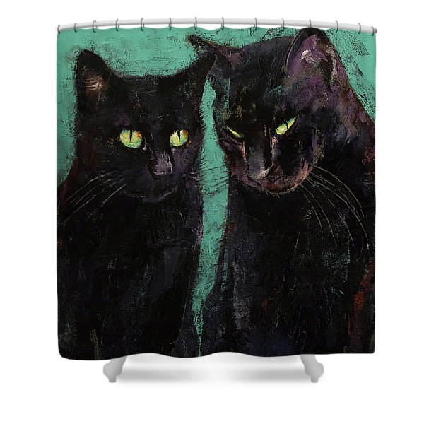 Two Black Cats Shower Curtain