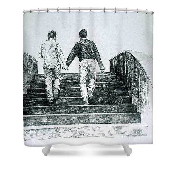 Two Boys Shower Curtain