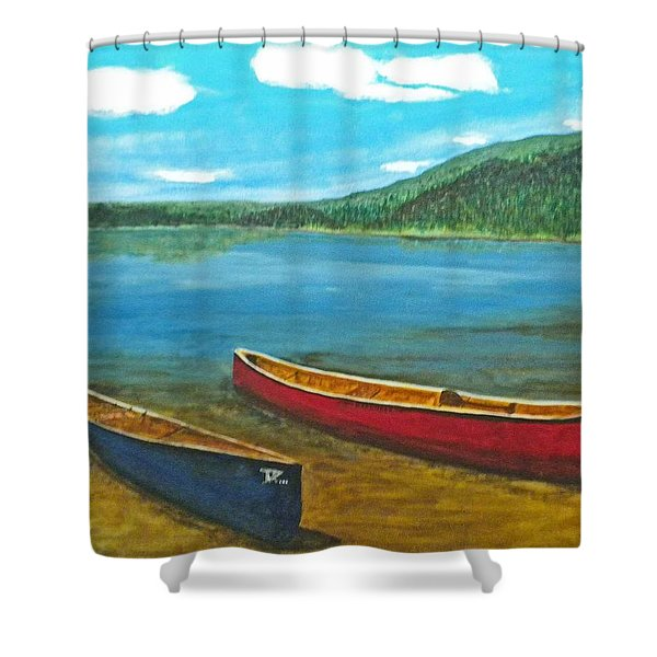 Two Canoes Shower Curtain