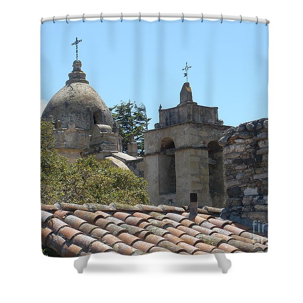 Two Crosses  Shower Curtain