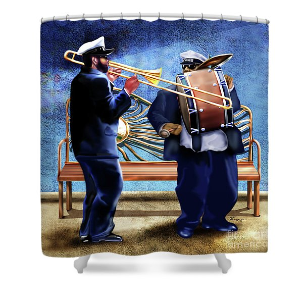 Two Da Jazz Way Shower Curtain