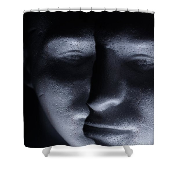 Two Faced Shadow Shower Curtain