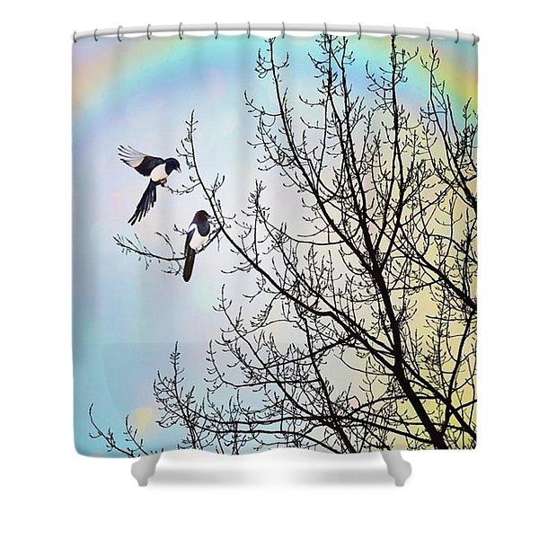 Two For Joy #nurseryrhyme Shower Curtain