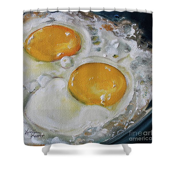 Two Frying Eggs Shower Curtain