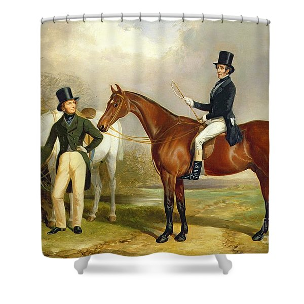Two Gentlemen Out Hunting  Shower Curtain