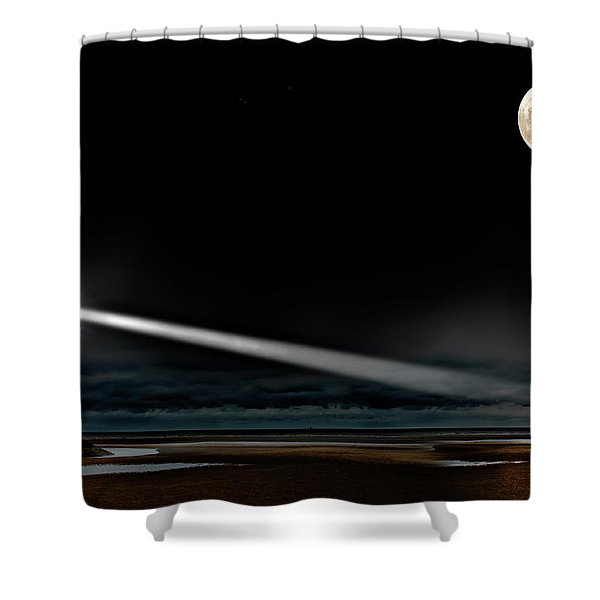 Two Guiding Lights Shower Curtain