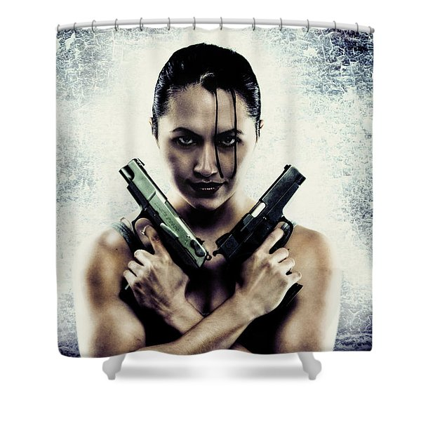 Lara Croft Shower Curtain