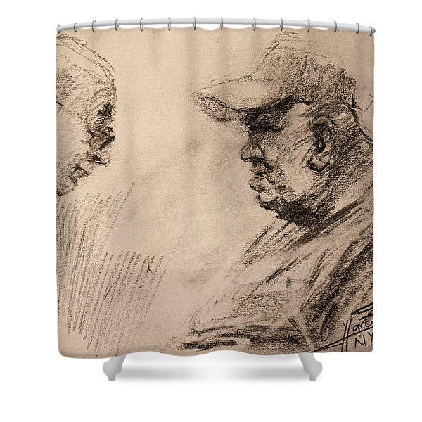 Two Men Shower Curtain