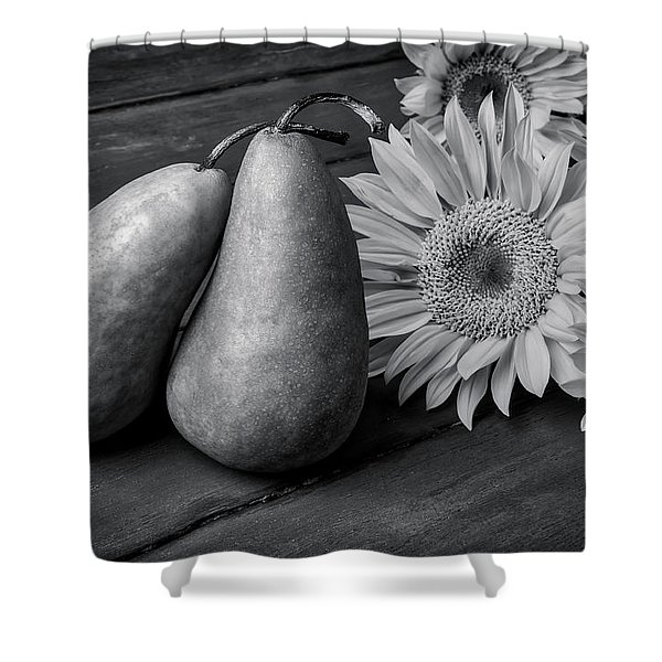 Two Pears And Sunflowers Shower Curtain