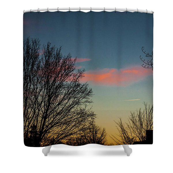 Two Planes Shower Curtain