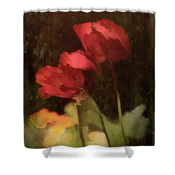 Two Poppies Shower Curtain