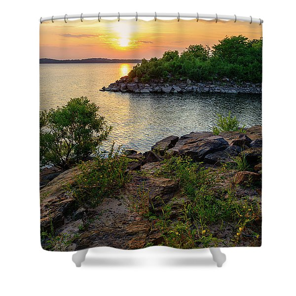 Two Rivers Trail Shower Curtain