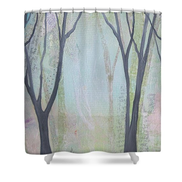 Two Roads II Shower Curtain