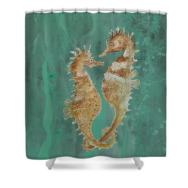 Two Seahorse Lovers Shower Curtain