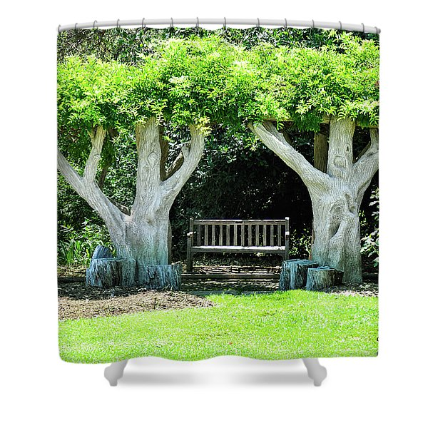 Two Tall Trees, Paradise, Romantic Spot Shower Curtain