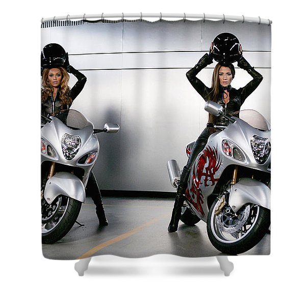 Two To Go And Go And Go. Shower Curtain
