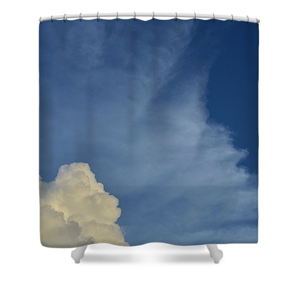 Two Tone Clouds 9384 Shower Curtain