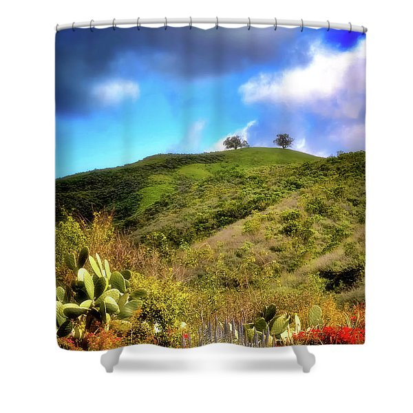 Two Trees In Spring Shower Curtain