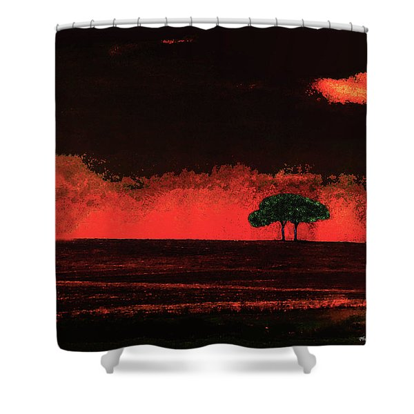 Two Trees In Tuscany Shower Curtain