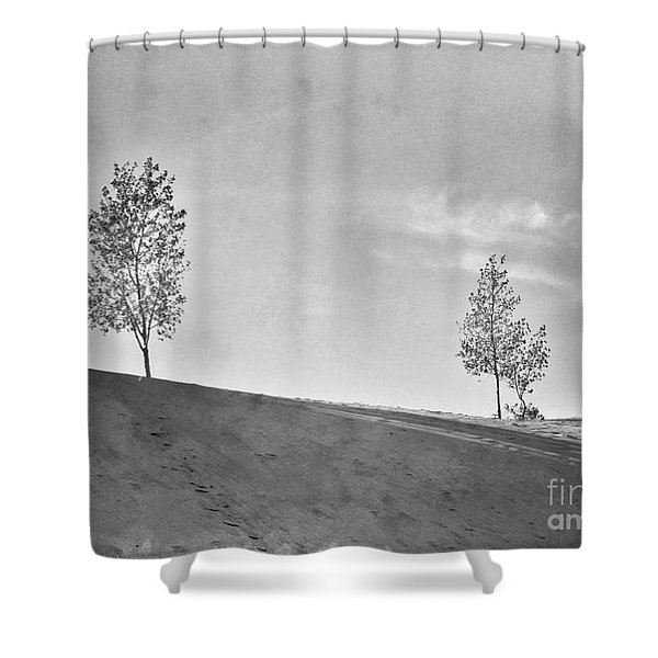 Two Trees On A Dune Shower Curtain