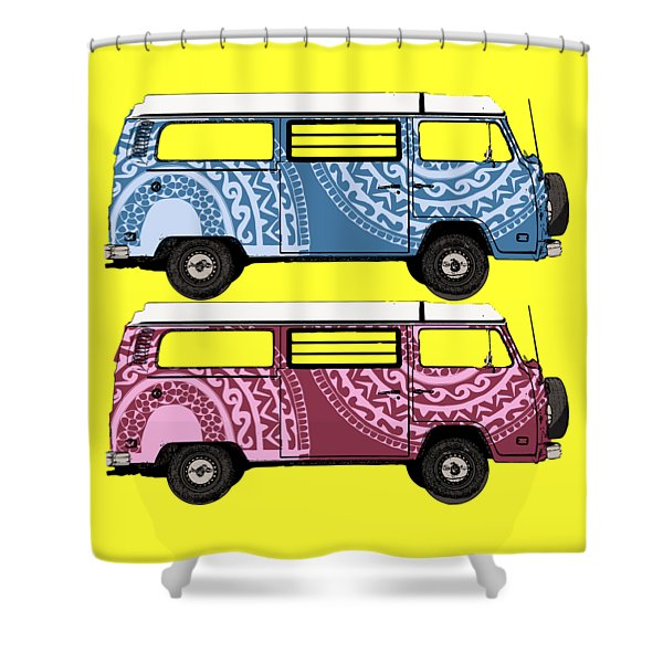 Two Vw Vans Shower Curtain