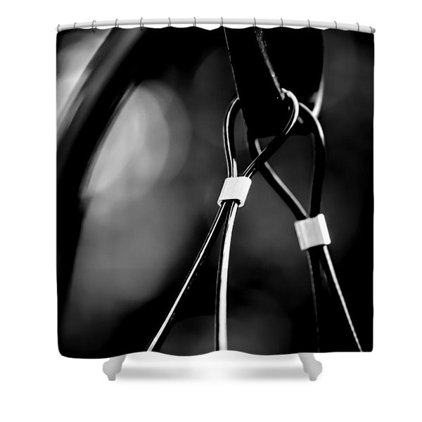 Two Wires On A Pole Shower Curtain