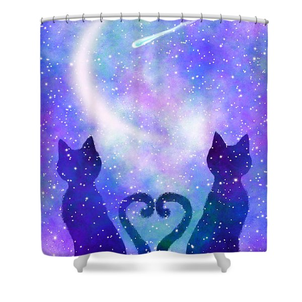 Two Wishing On A Star Shower Curtain