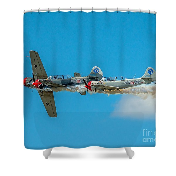 Two Yak 52's Shower Curtain