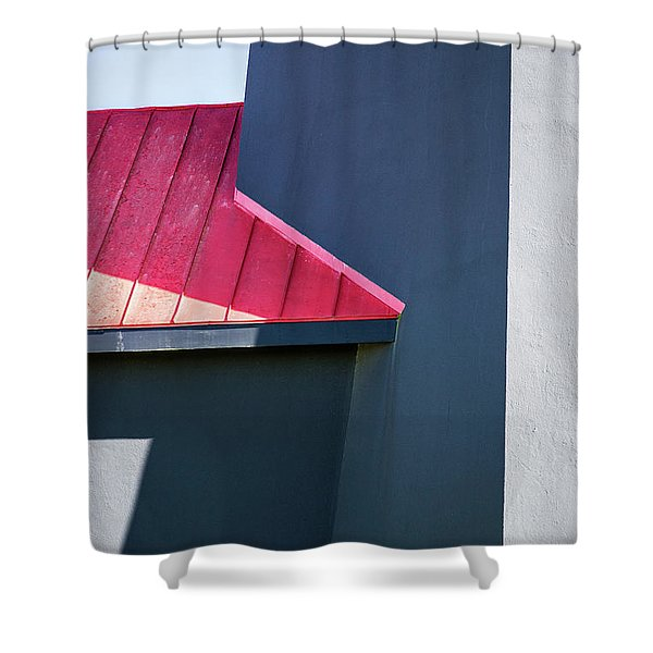 Tybee Building Abstract Shower Curtain