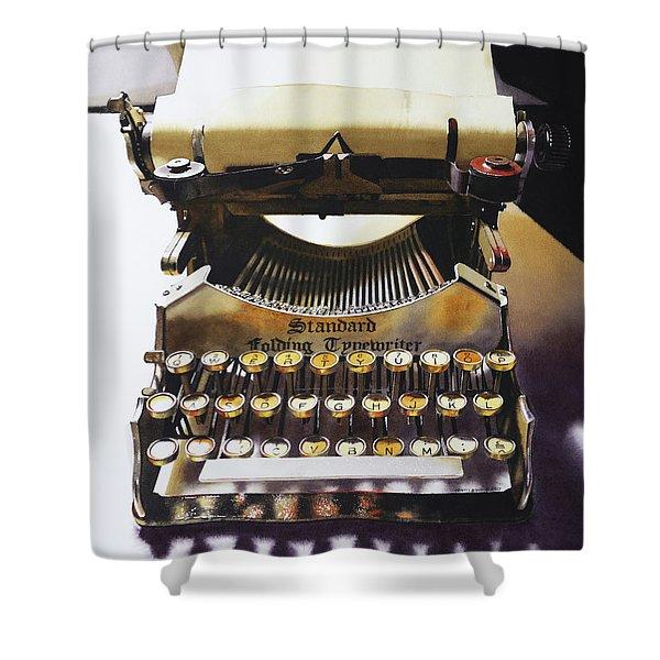 Typewritering Shower Curtain