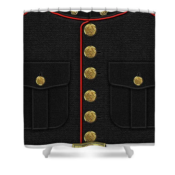 U S M C Dress Uniform Shower Curtain