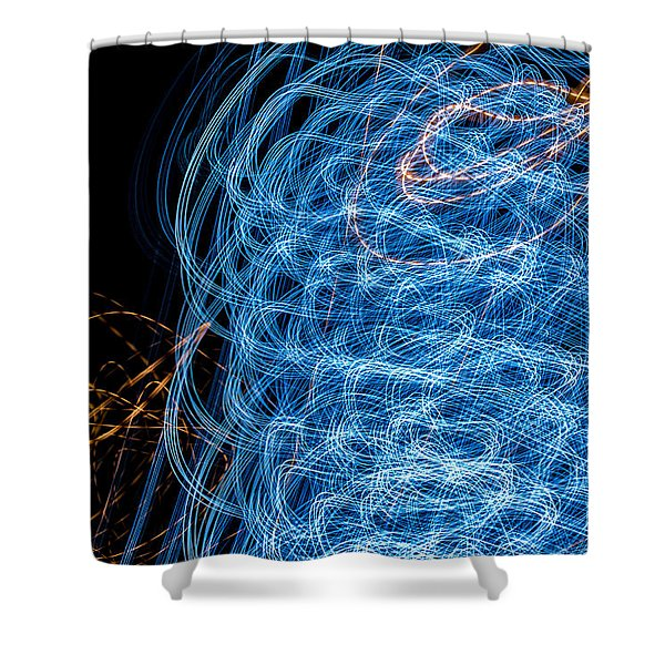 Ufa Neon Abstract Light Painting Sodium #7 Shower Curtain