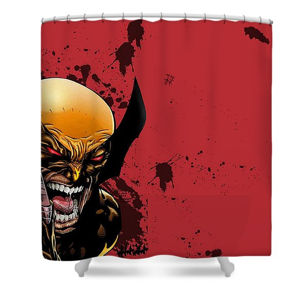 Ultimate Wolverine Vs. Hulk Shower Curtain