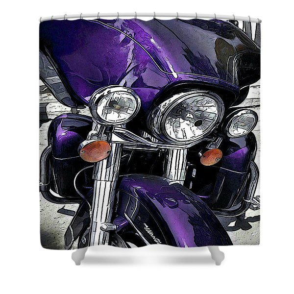 Ultra Purple Shower Curtain