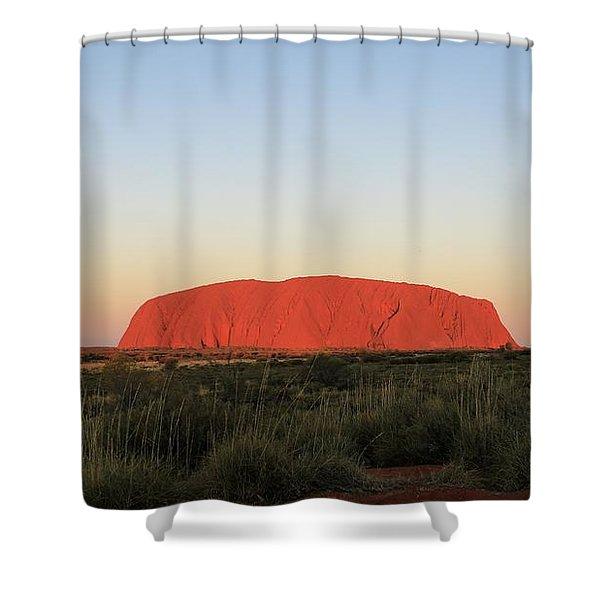 Uluru At Sunset Shower Curtain