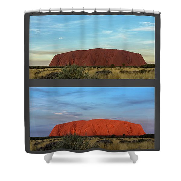 Uluru Sunset Shower Curtain