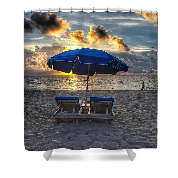 Umbrella For Two Shower Curtain