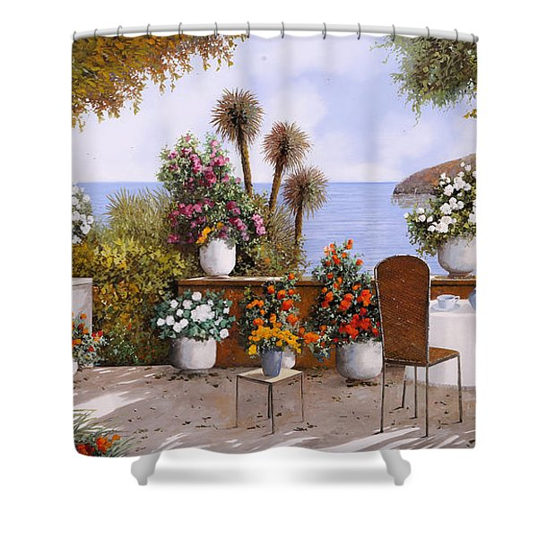 Un Caffe Davanti Al Lago Shower Curtain
