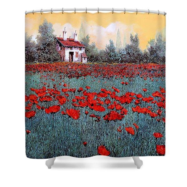 Un Campo Di Papaveri Shower Curtain